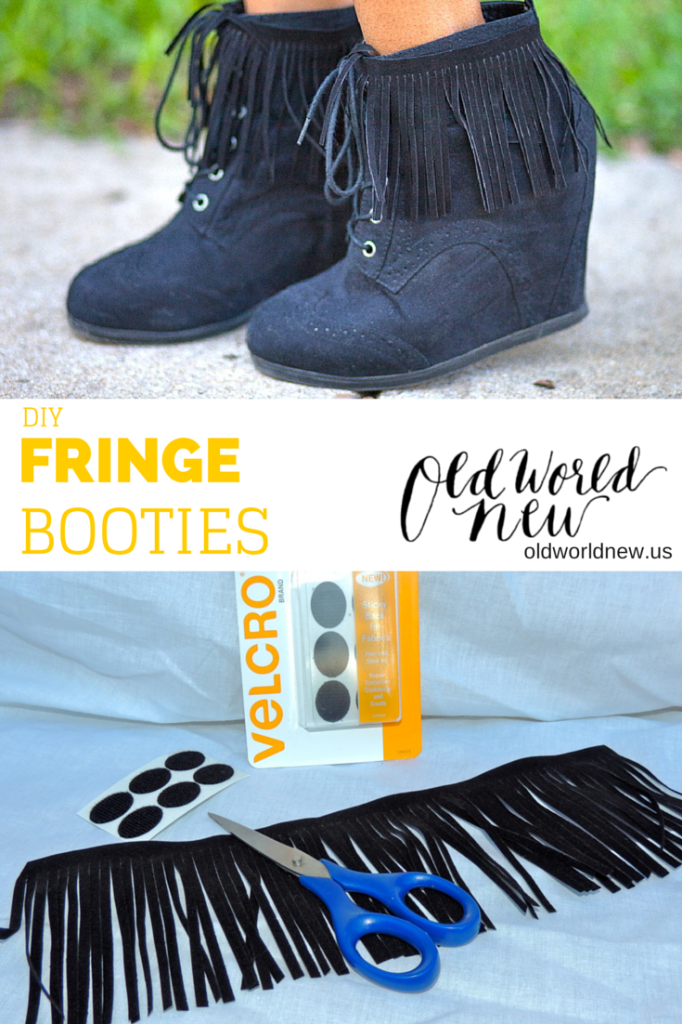 diy fringe booties pntrst