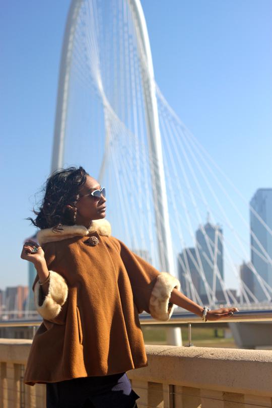 Vintage coat with Fur Trim: Texas Thrift