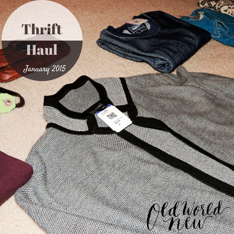 January 2015 Thrift Haul