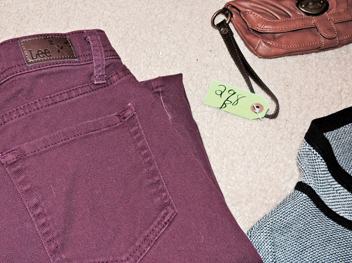 Purple Lee jeans