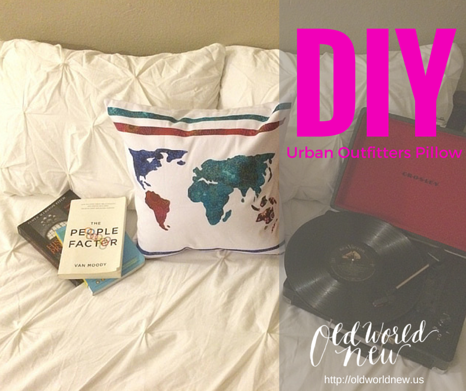 DIY Urban Outfitter Inspired Pillow