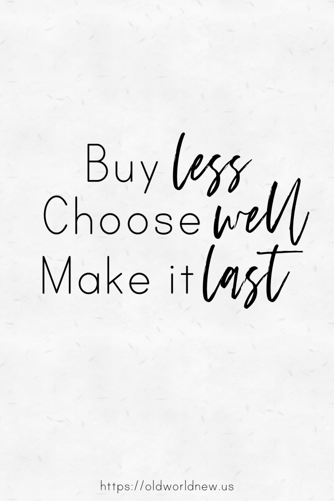 buy less choose well make it last - vivienne westwood quote