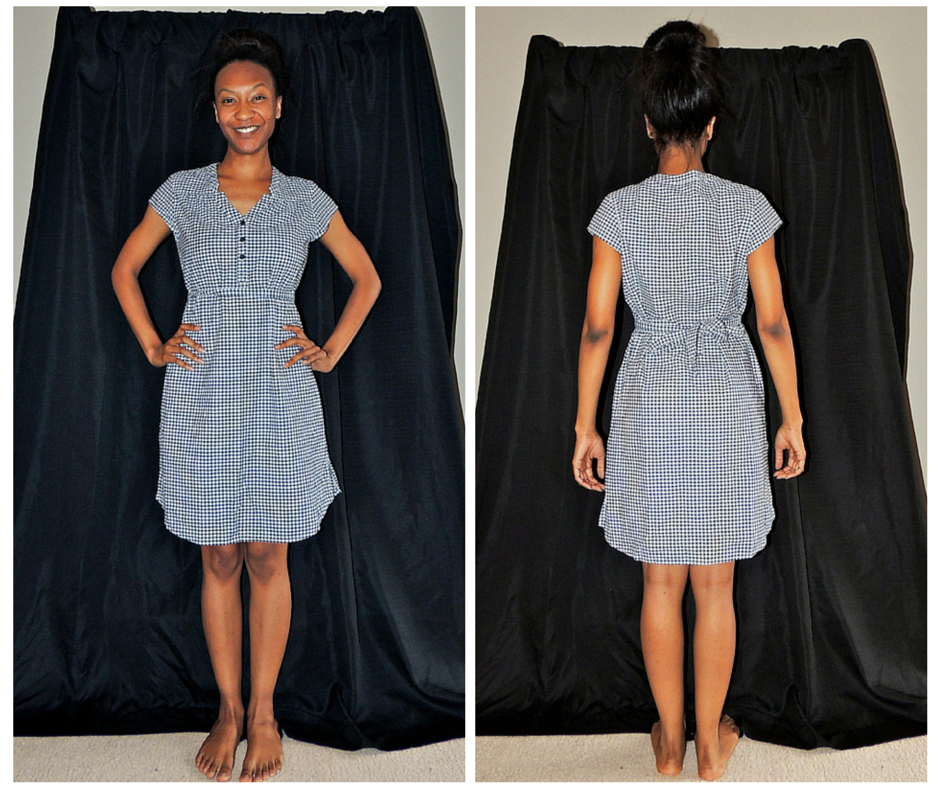 Blue & White Gingham Merona Dress
