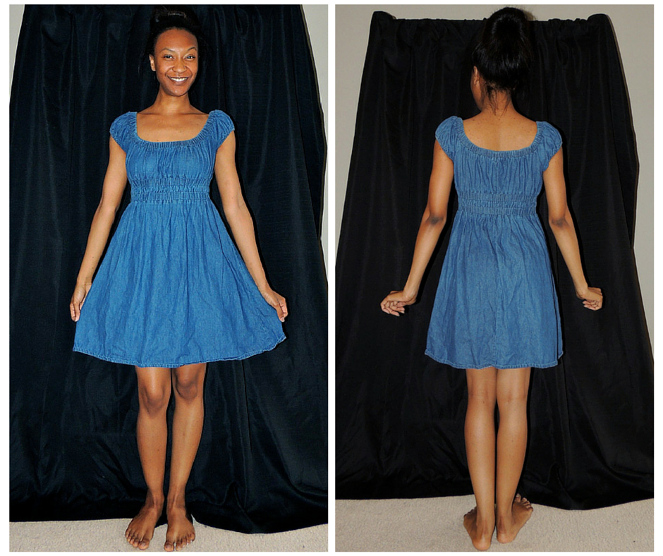 Denim Peasan Dress