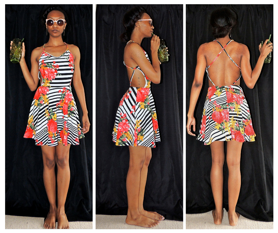 Striped Floral Topia Dress