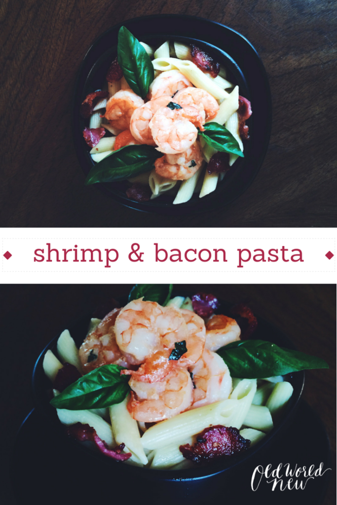 shrimp & bacon pasta
