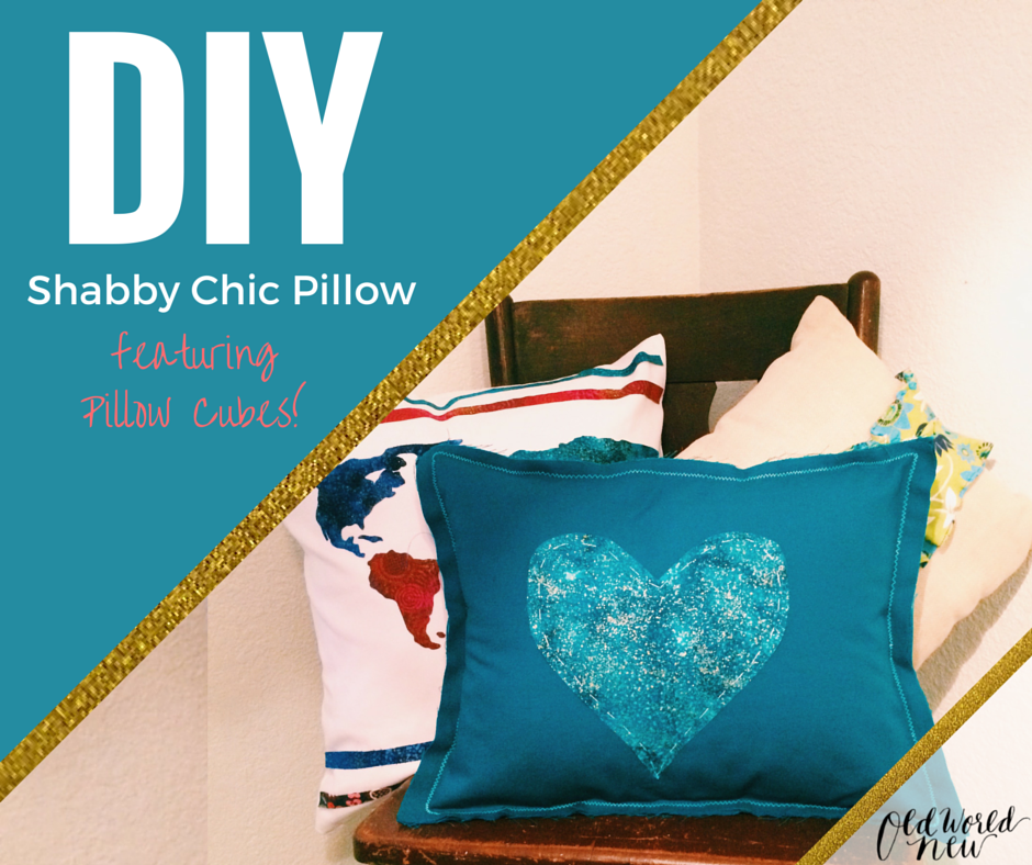 DIY Shabby Chic Pillow with Pillow Cubes