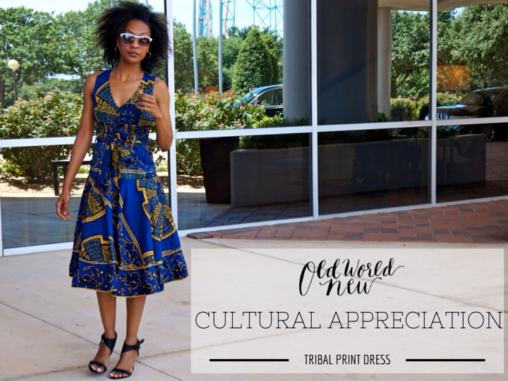 Cultural Appreciation - Tribal Print Dress Style