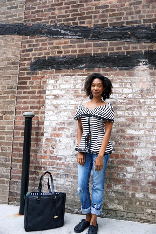 NYFW – Vintage Off Shoulder Peplum Top