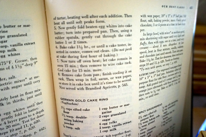 Pound Cake Recipe 1963 via Old World New 2
