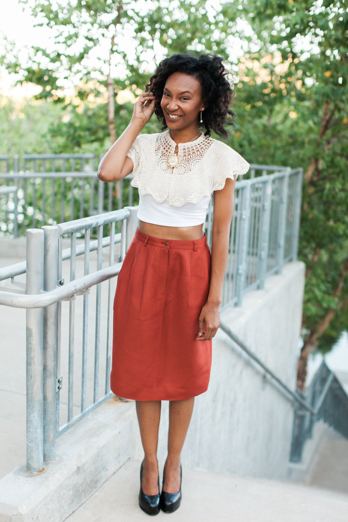 Vintage Skirts Styled so many different ways - via Old World New