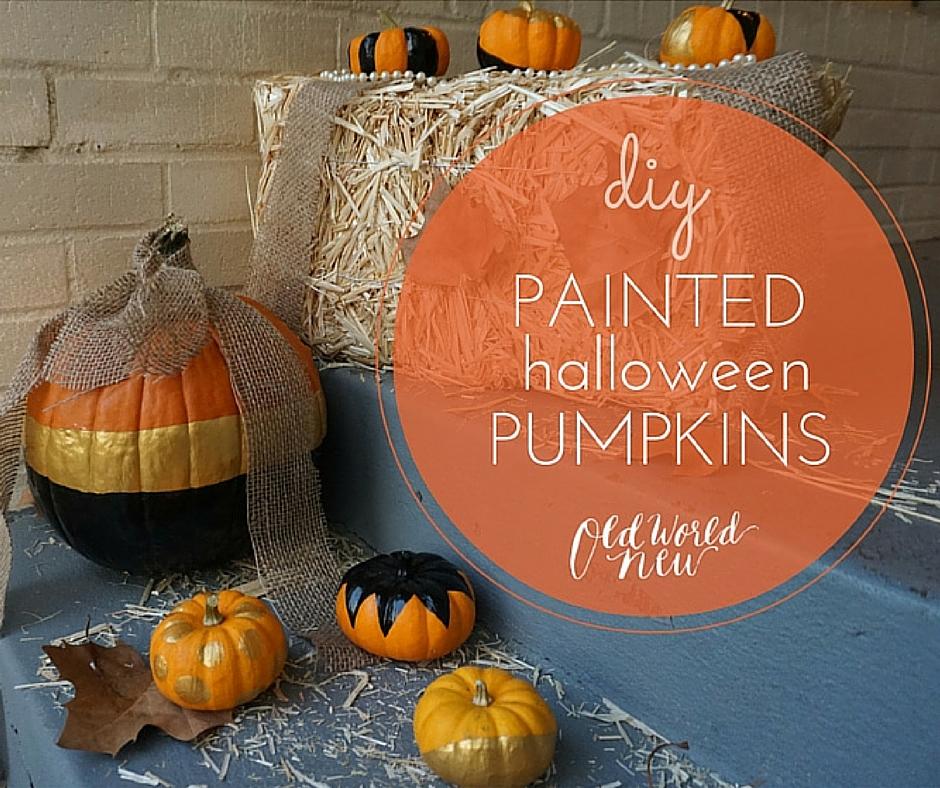 Halloween Decor DIY: Classy Painted Pumpkins