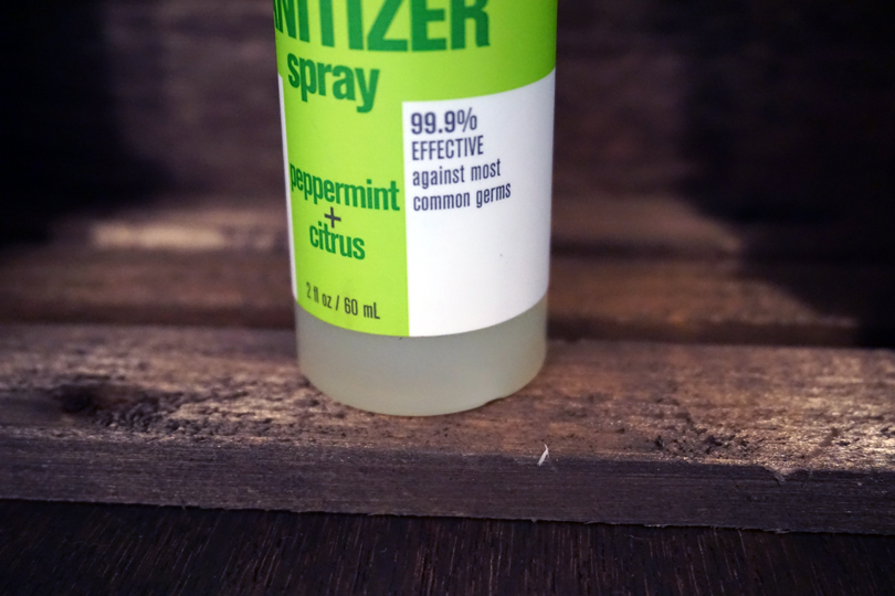 green hand sanitizer