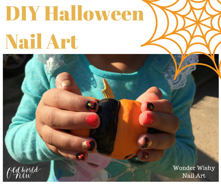 DIY Halloween Nail Art via Old World New by Wonder Wishy Nail Art