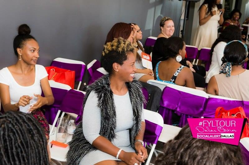 Women networking at the Finesse Your Life Tour in Dallas, Texas