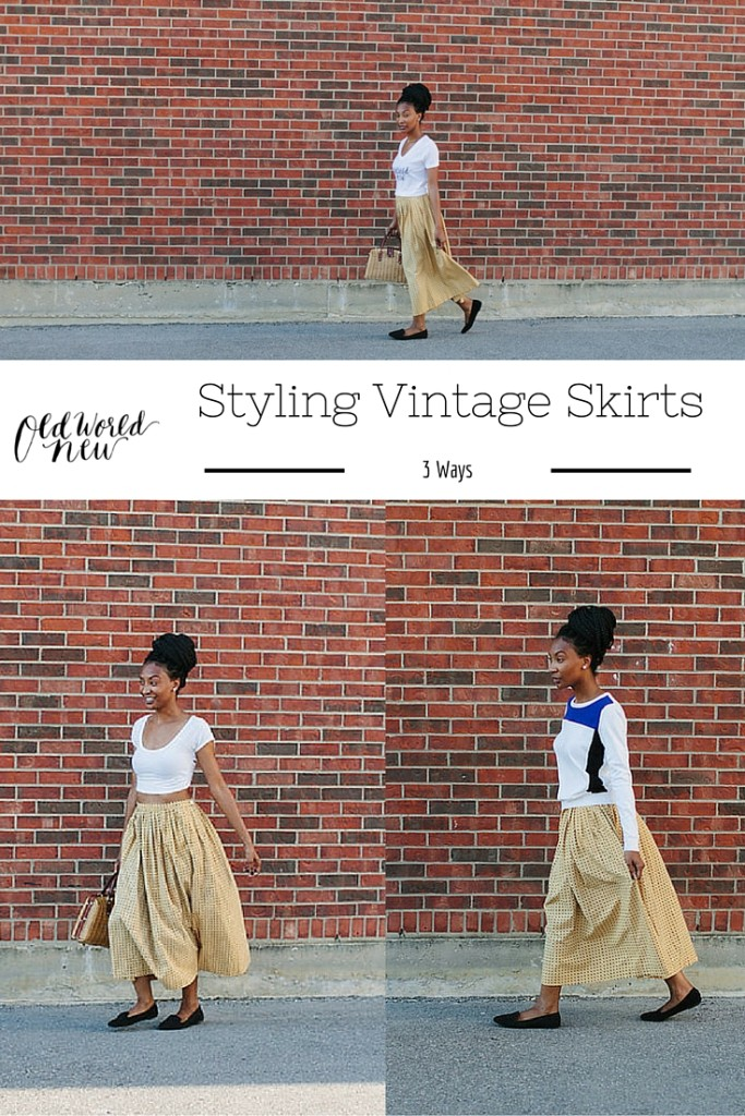 3 Ways to Style a Vintage Skirt - via Old World New