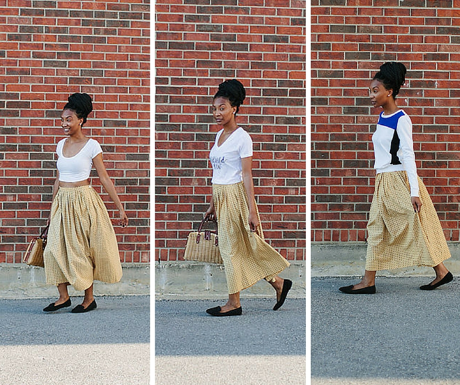 3 Ways to Style a Vintage Skirt via Old World New