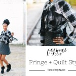 Fringe Top + Quilted Skirt – Combining Trend and Thrift Fashion