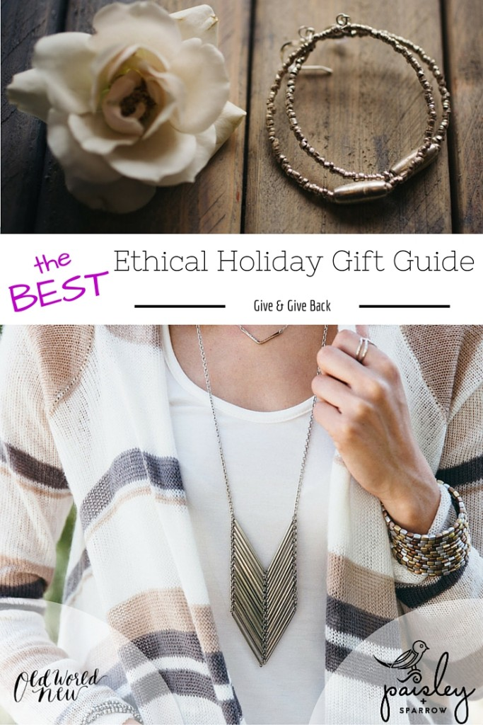 Paisley + Sparrow Ethical Gift Guide Giveaway via Old World New