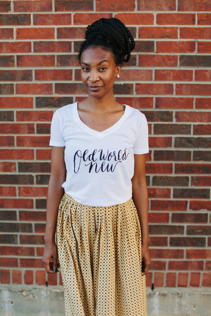 Vintage Ralph Lauren Skirt wit T Shirt via Old World New