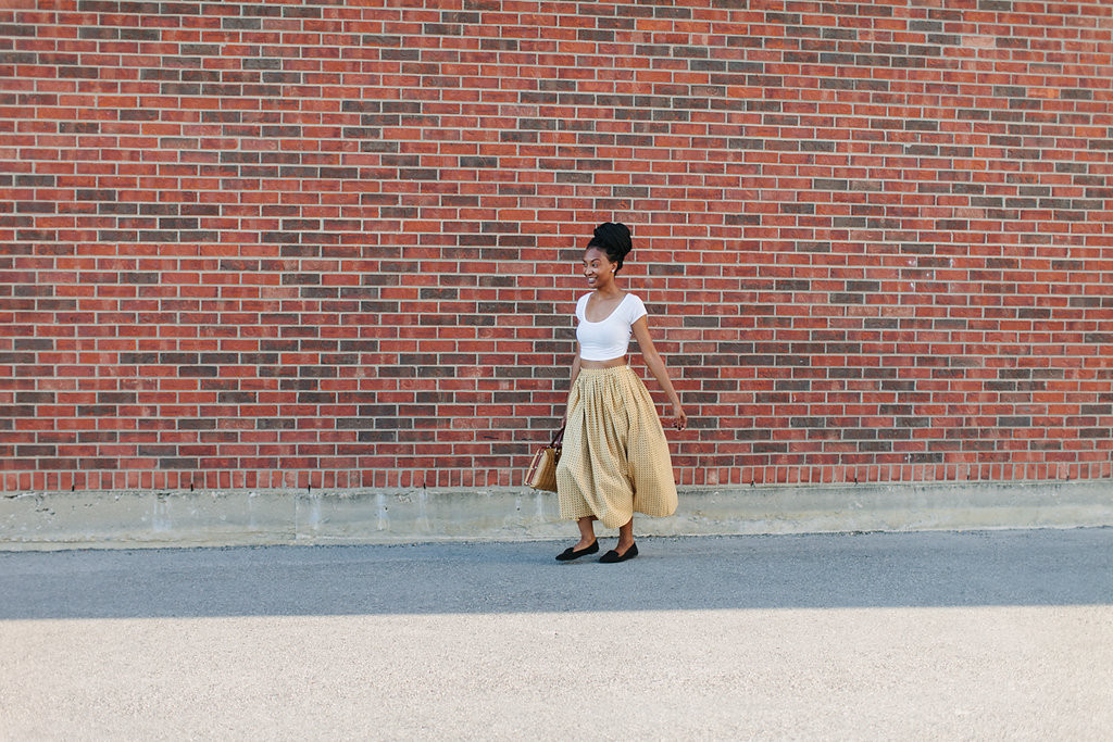 Vintage Skirt + Crop Top via Old World New