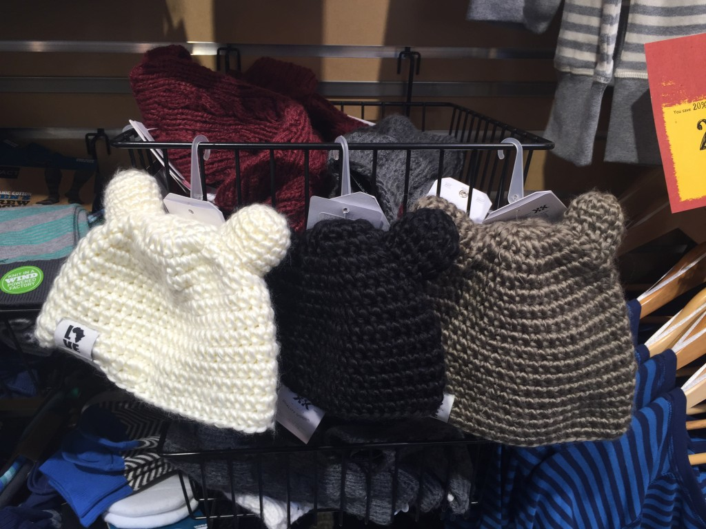 the Teddy beanie for babies by Krochet Kids at Whole Foods Market via Old World New