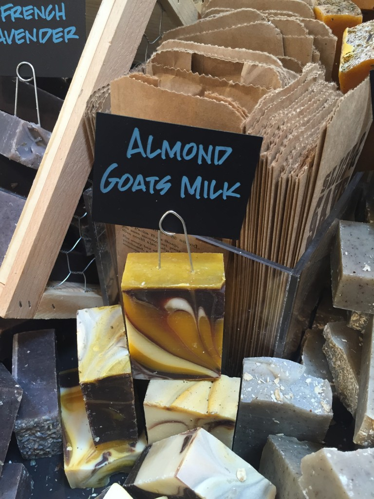 Almond Goats Milk soap by Soap Girl of Dallas TX at Whole Foods Market via Old World New natural soap