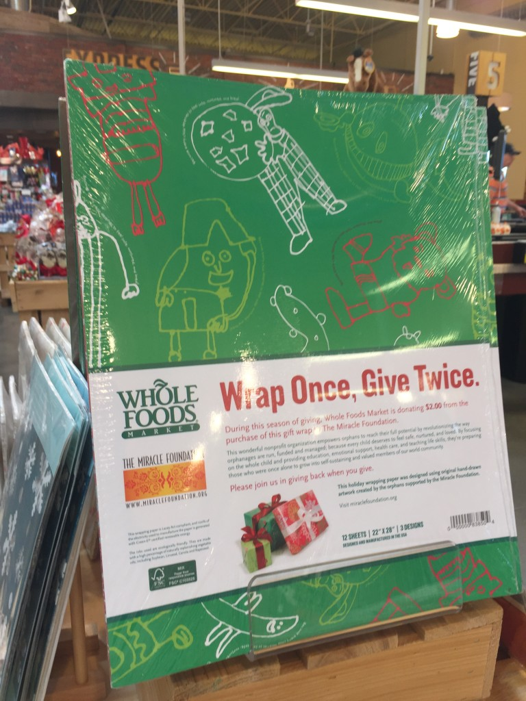 Gift wrap that gives twice at Whole Foods Market via Old World New