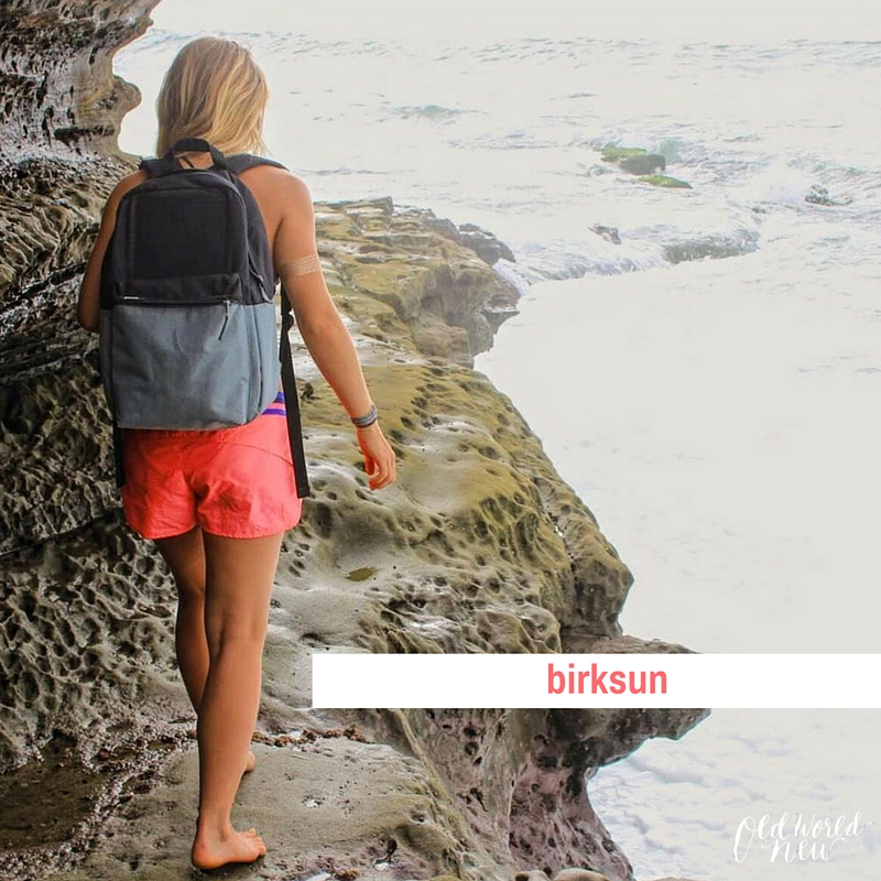 birksun solar panel backpack - ethical & sustainable shop guide - via Old World New