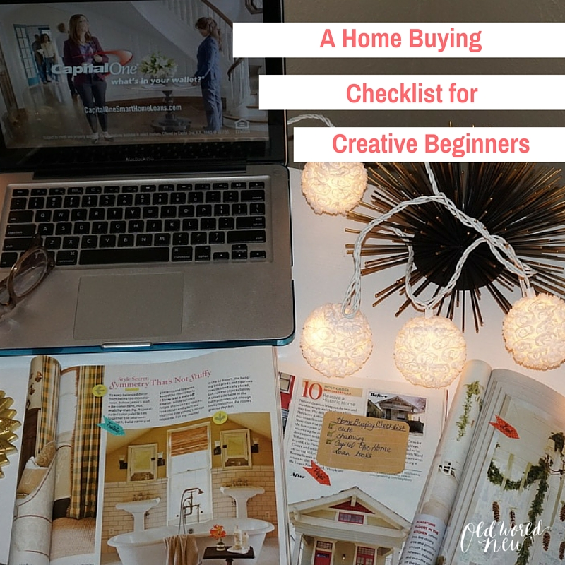 A Home Buying Checklist for Creative Beginners