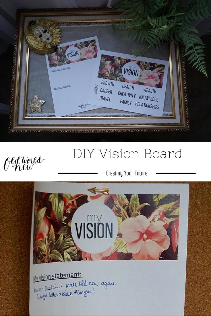 vision board - pin via Old World New