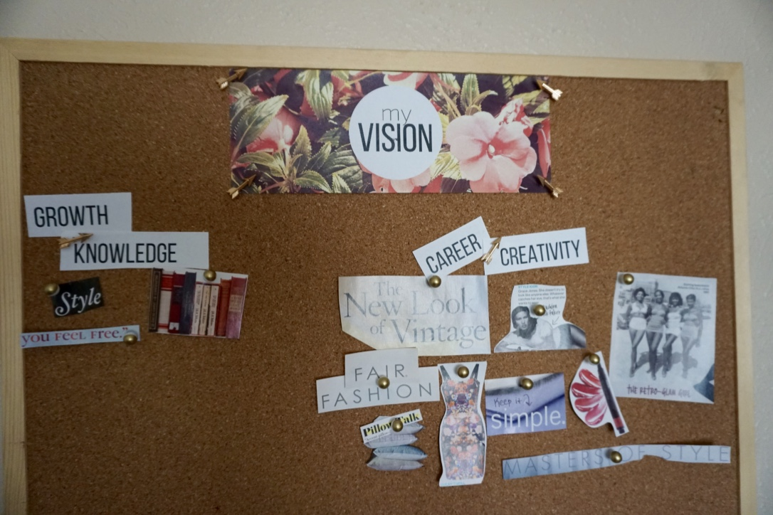 vision board top via Old World New