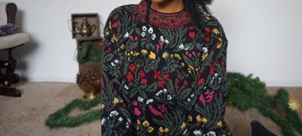Thrifted Christmas Attire – Classy Christmas Sweater