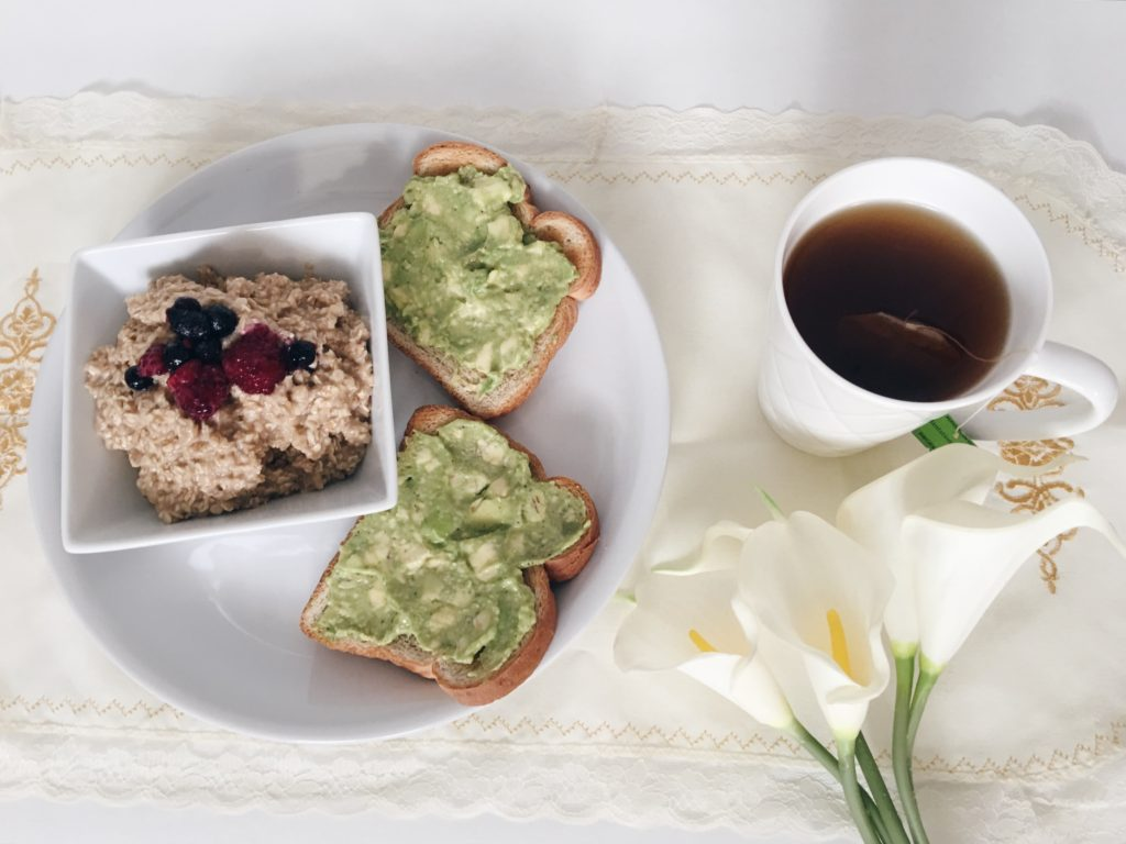 meatless monday avocado breakfast