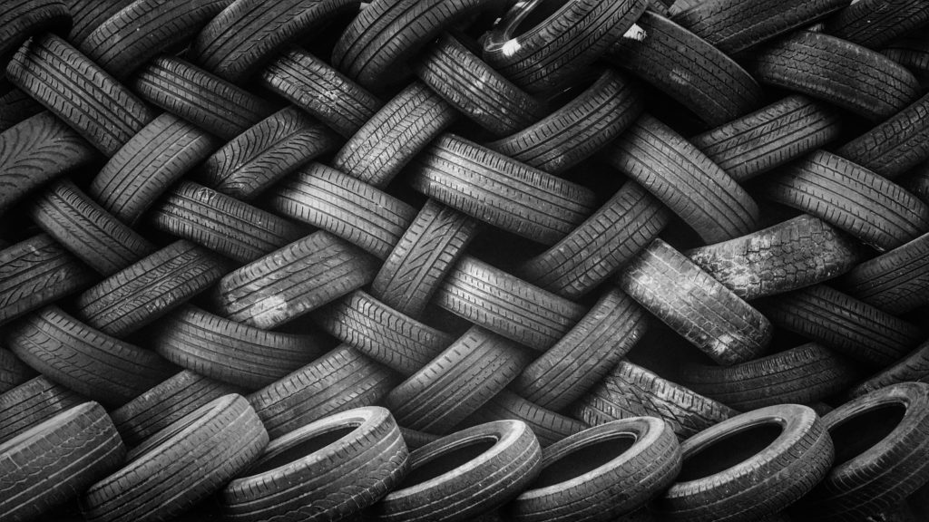 old discarded tires pollution