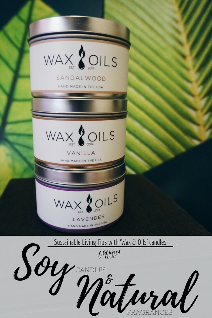 """wax & oils"" soy candles soy wax sustainable candles"