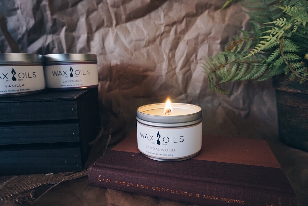 soy candles by Wax & Oils