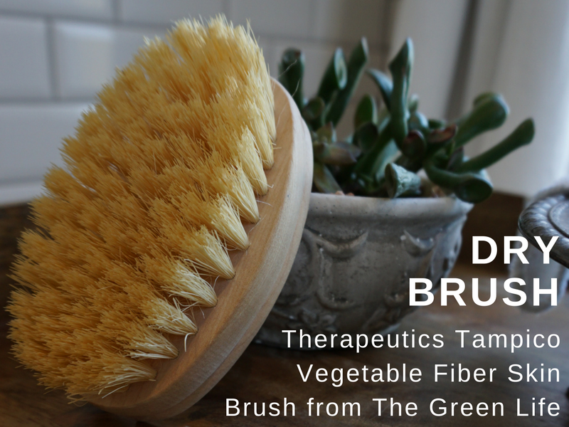 eco-friendly dry brush for skin tampico brush