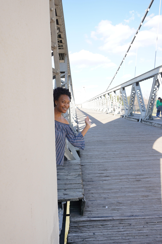 Suspension Bridge - Downtown Waco, TX - Addie, Old World New