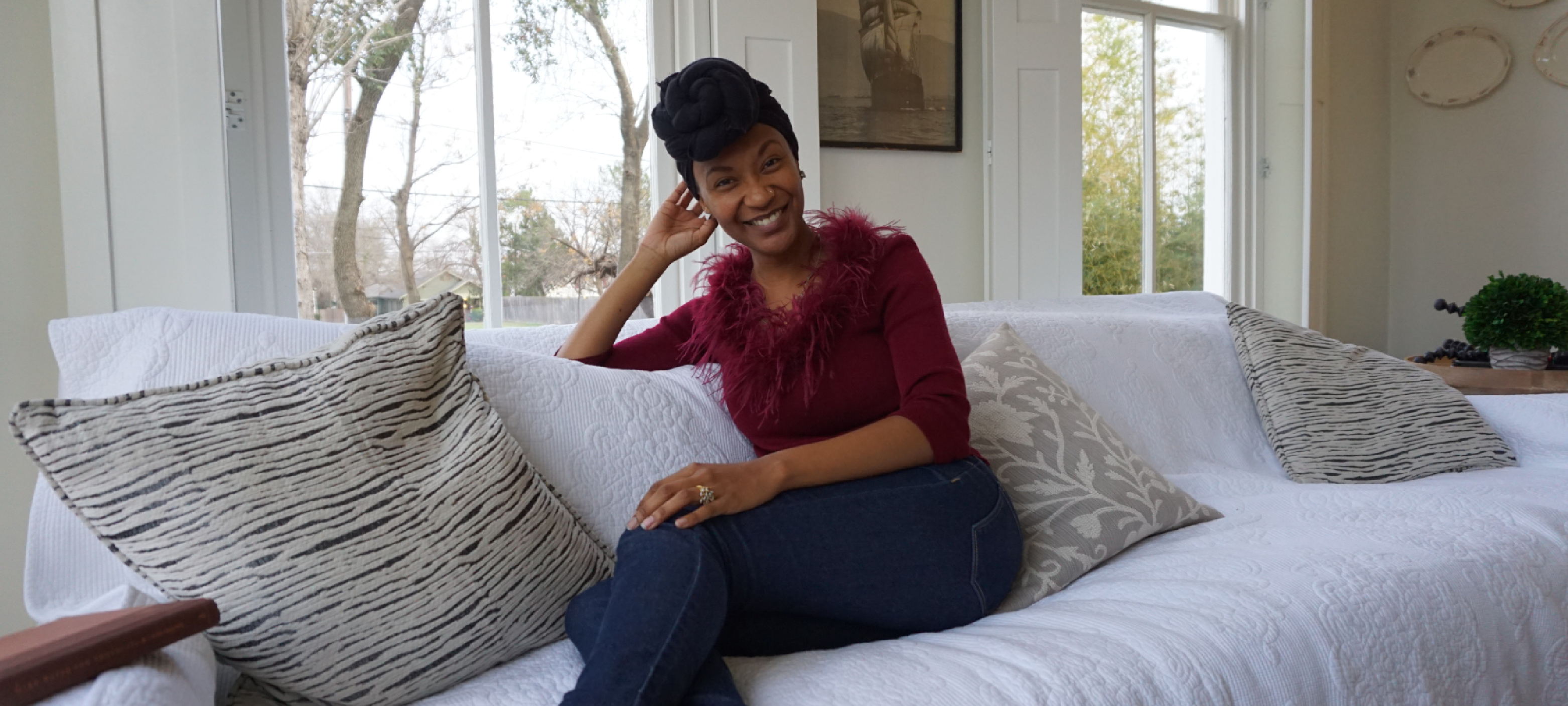 burgundy thrift outfit - secondhand first