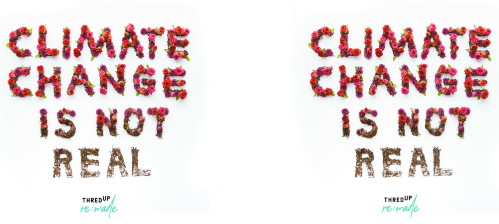 """thredUP's Secondhand Fashion Challenges the """"Climate Change Is Not Real"""" Narrative"""