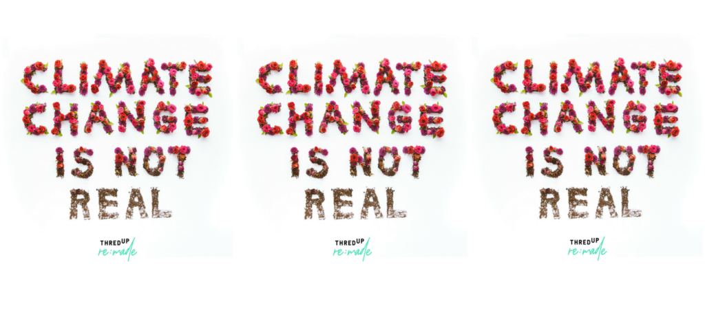 "thredUP's Secondhand Fashion Challenges the ""Climate Change Is Not Real"" Narrative"