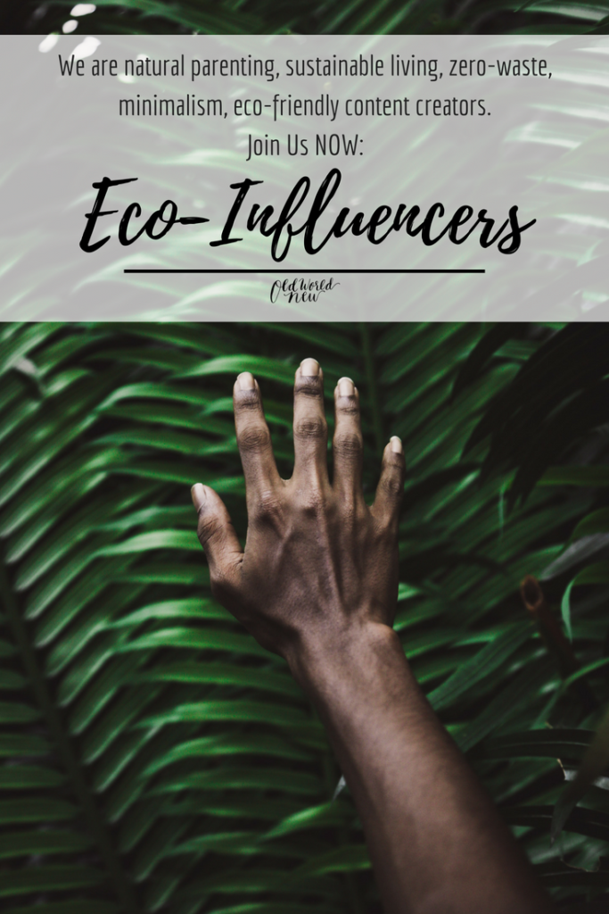 group for influencers eco-influencers, sustainable, eco-friendly, natural, zero-waste, minimalist, natural parenting, minimalism