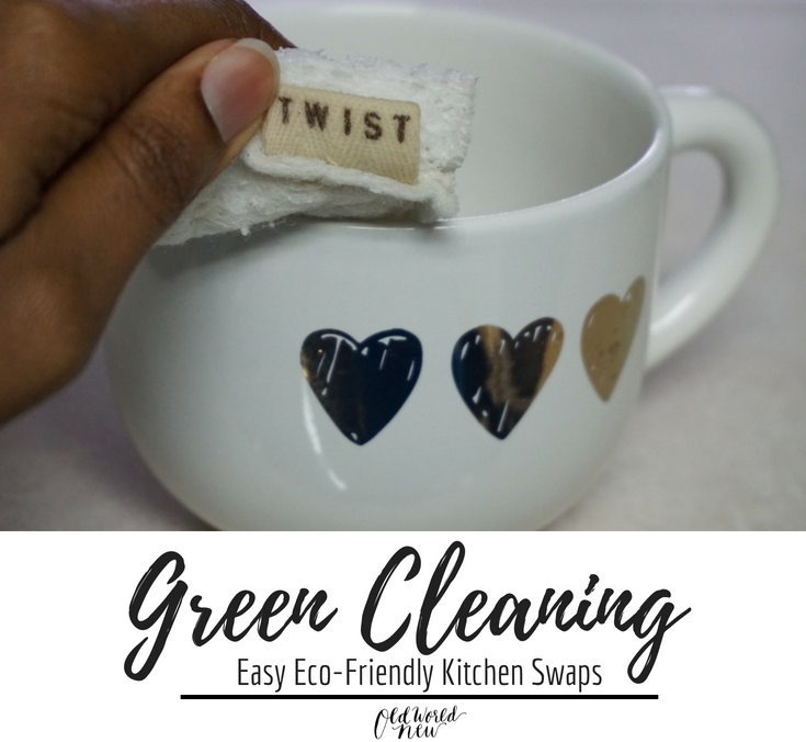 Green Cleaning - easy kitchen products swaps for a more eco-friendly kitchen via Old World New