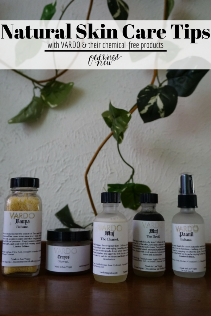 Natural skin care review of VARDO's chemical-free products, published on Old World New, a sustainable lifestyle blog