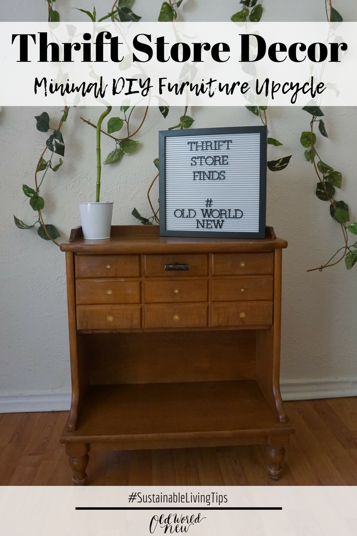 thrift store decor minimal diy upcycle via Old World New