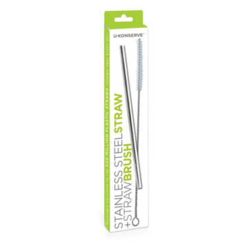 sustainable eco-friendly store ukonserve stainless steel straw and straw brush