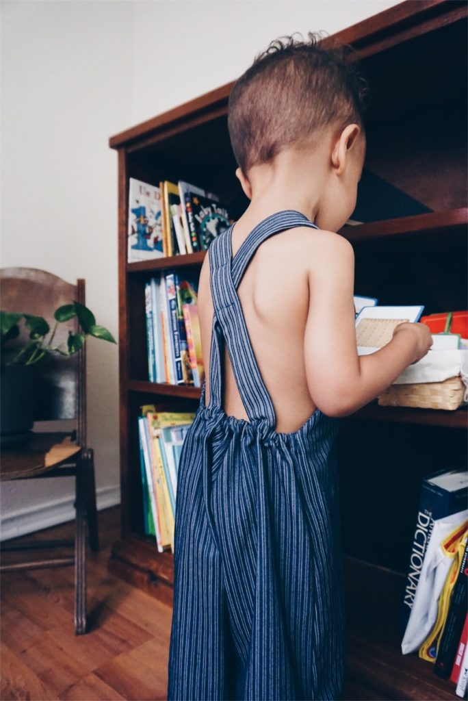 Eco-friendly children's clothing that grows as your kids grow by Beya Made via Old World New
