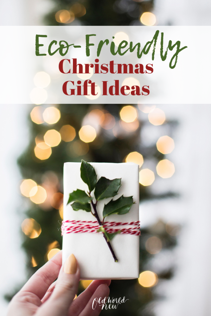 These eco-friendly gift ideas are perfect for Christmas, or any special occasion. Getting a gift for your eco-friendly friends doesn't have to be difficult! - via old world new