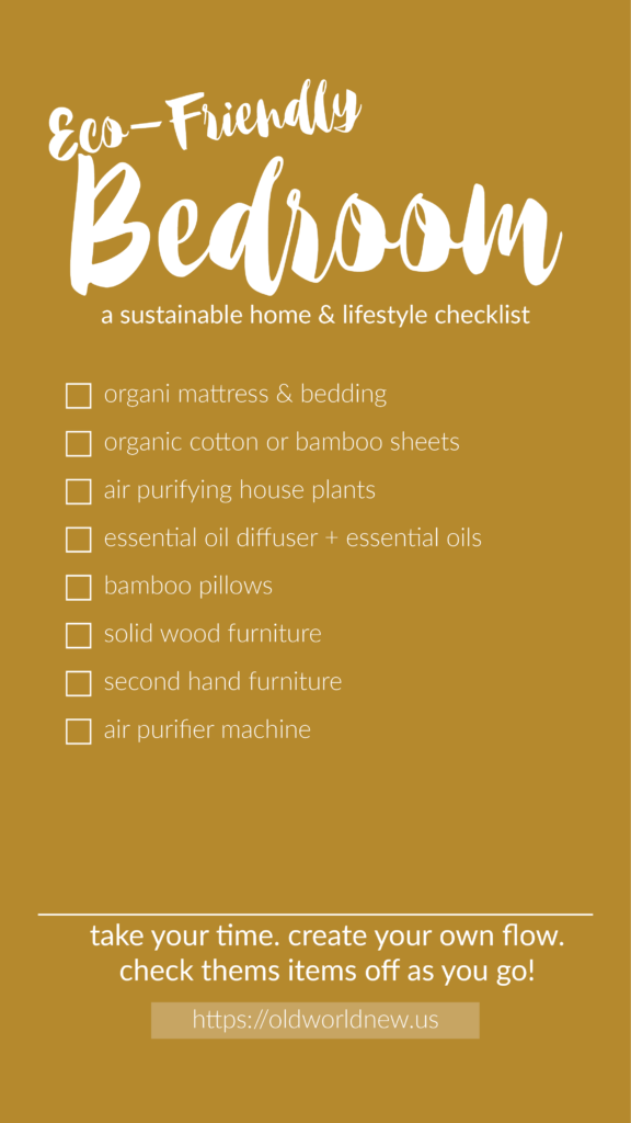 Create an eco-friendly home by following this bedroom checklist!
